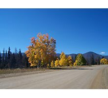 An empty country road Photographic Print