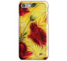 Painted Poppies and Daisies iPhone Case/Skin