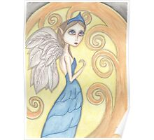 Fantasy big eyes Angel artwork Poster