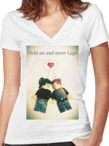 Never Lego Women's Fitted V-Neck T-Shirt