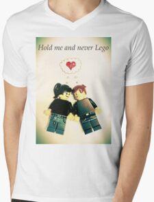 Never Lego Mens V-Neck T-Shirt