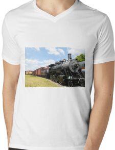 Old Black Steam Engine Mens V-Neck T-Shirt