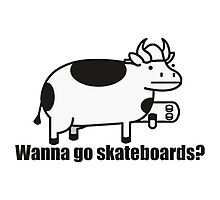 Wanna Go Skateboards? --ASDF MOVIES-- Photographic Print