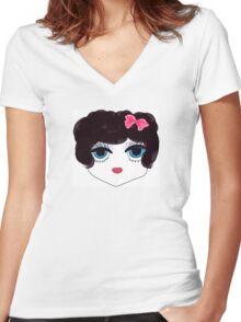 Flapper Women's Fitted V-Neck T-Shirt
