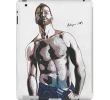 Colored pencil man iPad Case/Skin