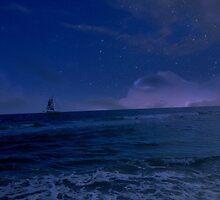 Sailing through the Stars by haleeec