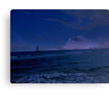 Sailing through the Stars Canvas Print