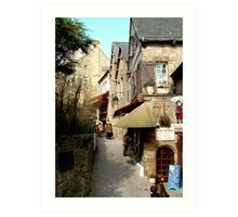 The narrow streets of Mont St Michel, France  Art Print