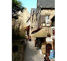 The narrow streets of Mont St Michel, France  Photographic Print