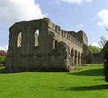 Buildwas Abbey Ruins..wide Angle view. by Lawson Clout