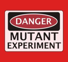 DANGER MUTANT EXPERIMENT FAKE FUNNY SAFETY SIGN SIGNAGE One Piece - Long Sleeve