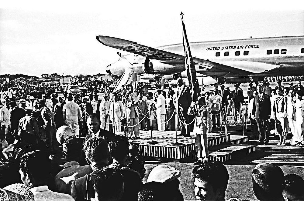 Welcome Ceremony. President Eisenhower in The Philippines. by cjkuntze