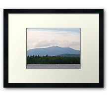 Mount Katahdin. The northernmost point of the Appalachian Trail. Framed Print