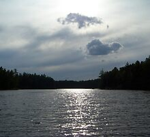 A little overcast on Lake Millinocket. by William Brennan