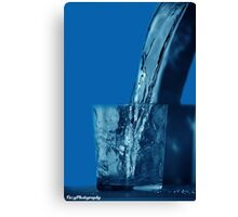 Drink to get Blue Canvas Print