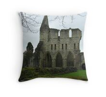 Much wenlock Abbey view from the Lady chapel Throw Pillow