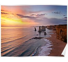 "Great Ocean Road  "" Sundown "" and the 12 minus 5  apostles Poster"