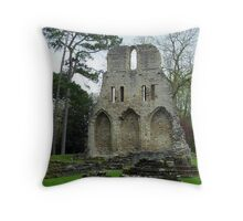 Much Wenlock Abbey View of the Crypt Throw Pillow