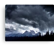 Storm,Kootenay Crossing Canvas Print