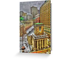 King's Chapel, Boston MA Greeting Card