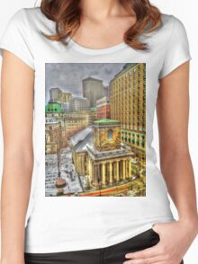 King's Chapel, Boston MA Women's Fitted Scoop T-Shirt