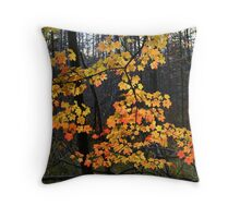 Michigan Maple Throw Pillow