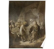 Painting - Joseph Telling his Dreams to his Parents and Brothers, Rembrandt Harmensz. van Rijn, 1633  Poster