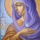 Mary In Heavenly Abode by Alla Melnichenko