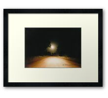 Moonrise on Melrose © Vicki Ferrari Framed Print