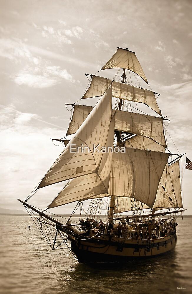 Tall Ship Hawaiian Chieftain by Erin Kanoa