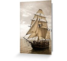 Tall Ship Hawaiian Chieftain Greeting Card