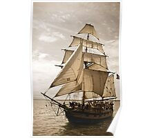 Tall Ship Hawaiian Chieftain Poster