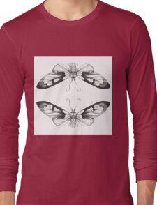 Moth Art Print Long Sleeve T-Shirt