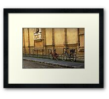 Florence Bicycles Framed Print