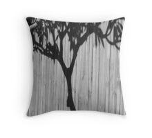 Frangipani Tree-(B&W) Throw Pillow