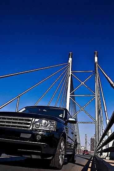 SUV on Nelson Mandela Bridge - In Cartoon Rendition v02 by RatManDude