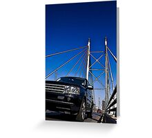 SUV on Nelson Mandela Bridge - In Cartoon Rendition v02 Greeting Card