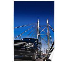 SUV on Nelson Mandela Bridge - In Cartoon Rendition v02 Poster