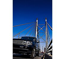 SUV on Nelson Mandela Bridge - In Cartoon Rendition v02 Photographic Print