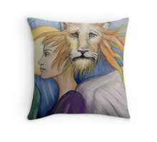 Leo - Colored Pencil on paper Throw Pillow