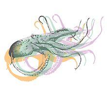 Octopus Art Print by zealdesign