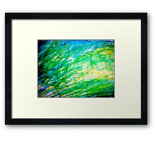 Random brush strokes Framed Print