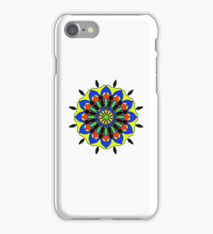 abstract trendy colorful pattern iPhone Case/Skin