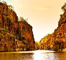 Dusk at Katherine Gorge  by Geoffrey Thomas