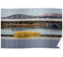 Bridge Reflection Waterscape Poster