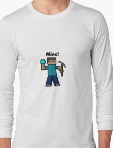 Minecraft Mining art Long Sleeve T-Shirt