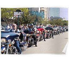 Veteran Bikers on Parade Poster