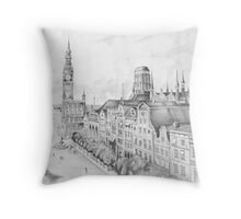 Gdansk panorama Throw Pillow
