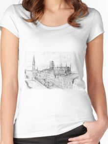 Gdansk panorama Women's Fitted Scoop T-Shirt