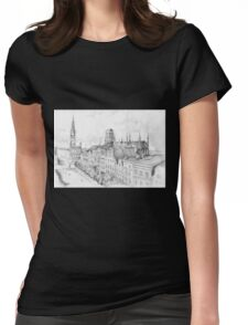 Gdansk panorama Womens Fitted T-Shirt